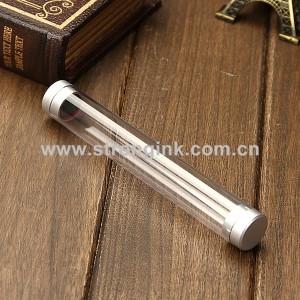 Clear Plastic Cylinder Pen box