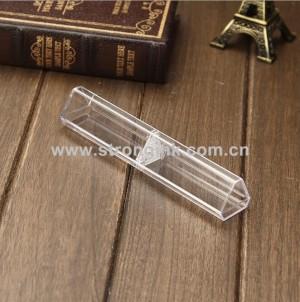 Clear triangular Plastic Display Pen box