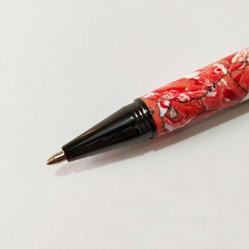 PKM-5-GM  Gun Metal Solid Clip New Style Twist Type Ballpoint Pen Kits