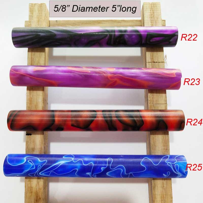 "5/8""x5""Round End Acrylic Pen Blanks"