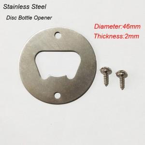 Stainless Steel Disc Bottle Opener Kit