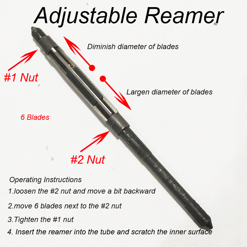 Ajustable Reamer with Wrench for 6.0-6.5mm Tubes