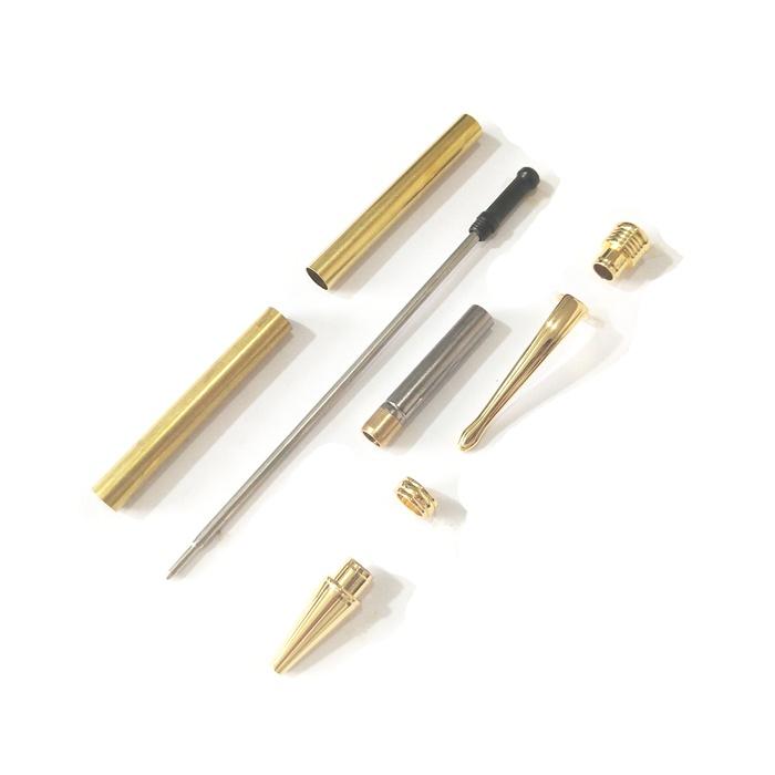 PKSL-6-G Slimline Gold Twist Pen Kit
