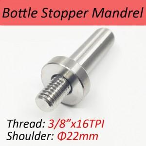 """SUS304 Mandrel for Bottle Stopper Kit-3/8""""x16TPI Thread"""